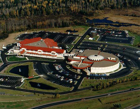 air view of Black Bear Casino Hotel